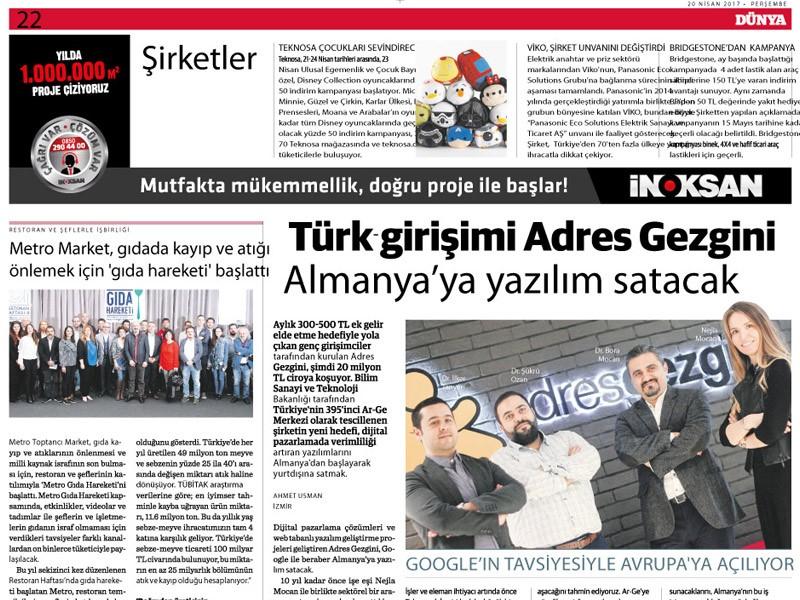 Turkish Entrepreneur AdresGezgini Will | AdresGezgini - 444