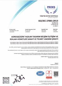 Proks Yönetim Sistem Sertifikası-ISO 27001-1