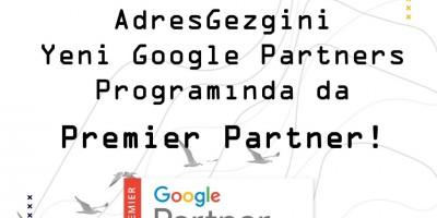 AdresGezgini Yeni Google Partners Programında da Premier Partner