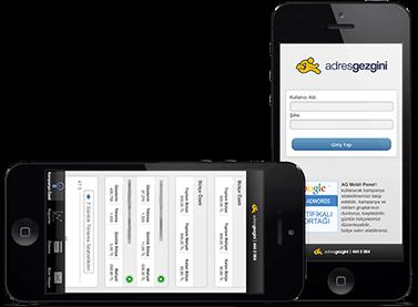 Mobil Web Sitesi Tasarımı - AdresGezgini